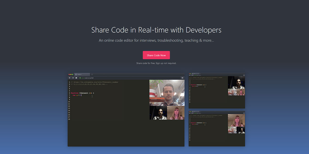 Codeshare Collaboration редактор кода