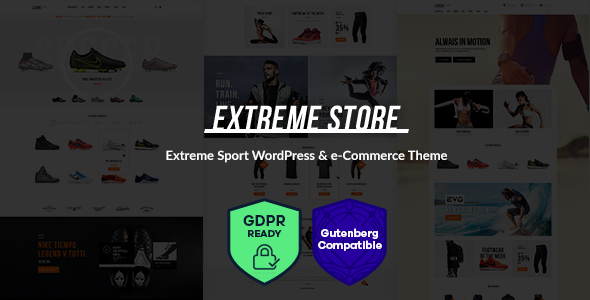 Extreme Sports Clothing & Equipment Store WordPress Theme