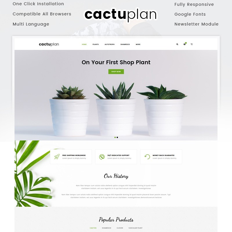 Cactuplan Opencart multimedia adaptive template for online store