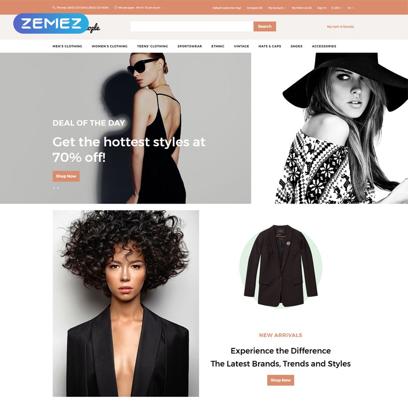 Fashion People premium russian template for online clothing store