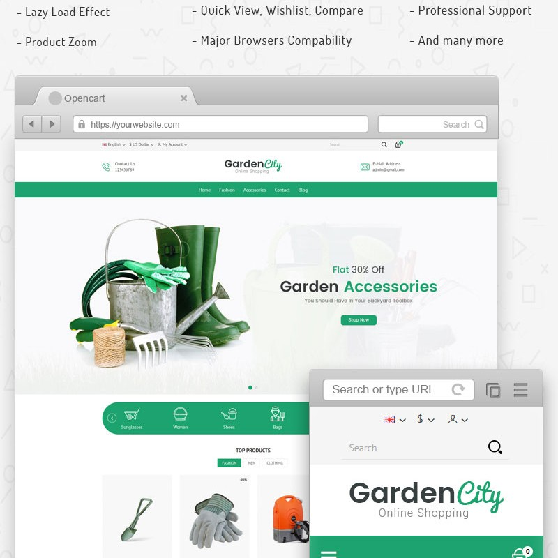 GardenCity template for online soda supplies store
