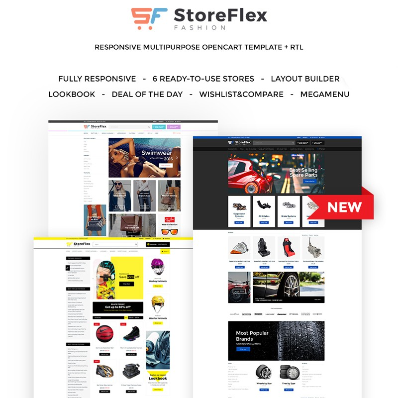 StoreFlex - OpenCart A unique template for an online clothing store