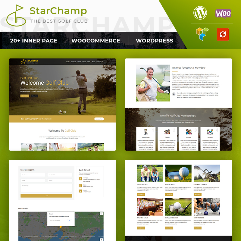WordPress шаблон Star Champ: GolfClub