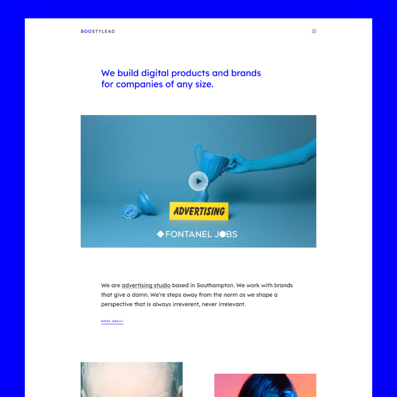3-WordPress template Boostylead - Marketing Agency Website Template with a Neat Design and Elementor