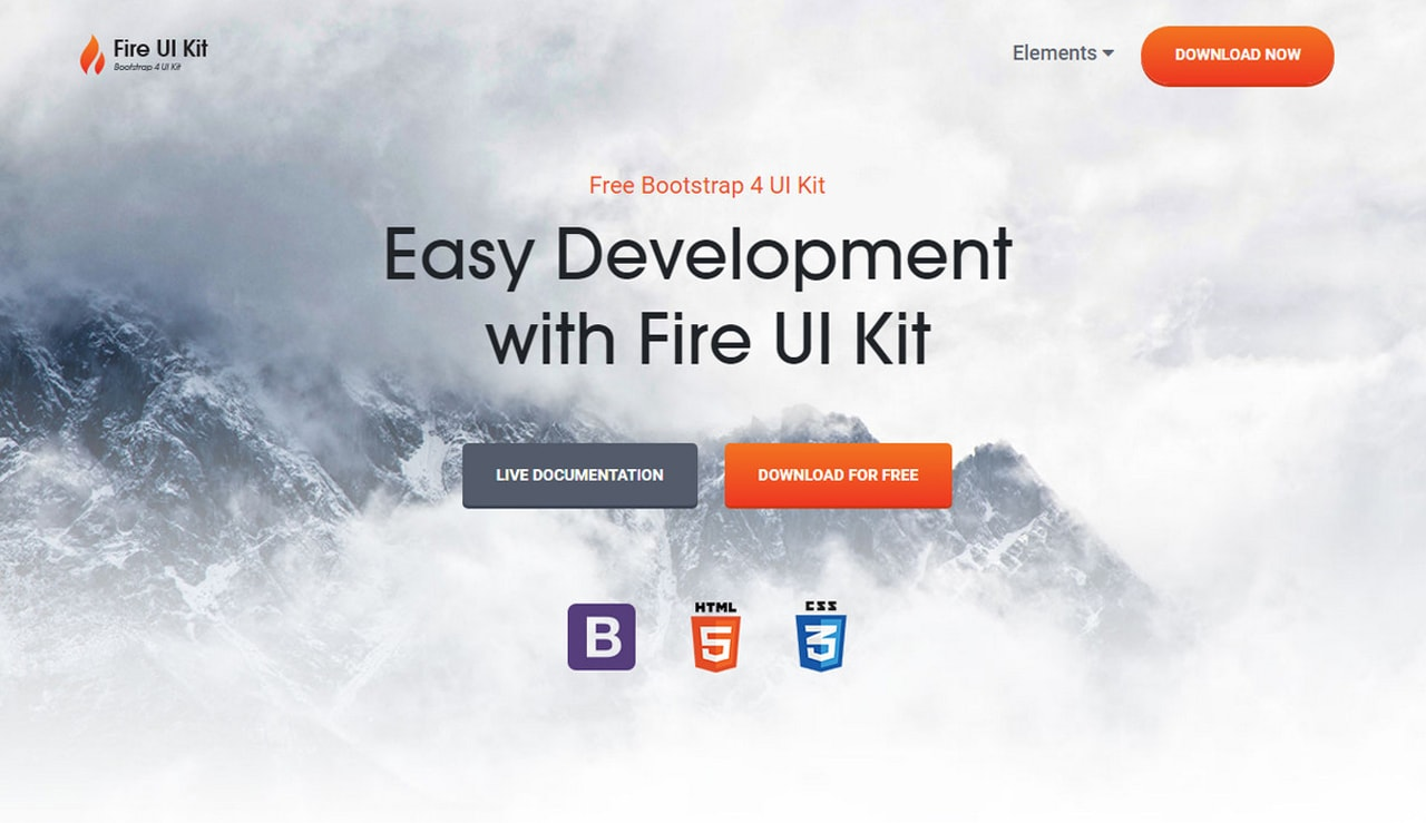 Fire-UI-Kit Bootstrap