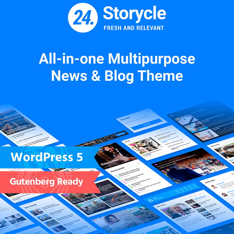 24.Storycle - Multipurpose Elementor WordPress news site template