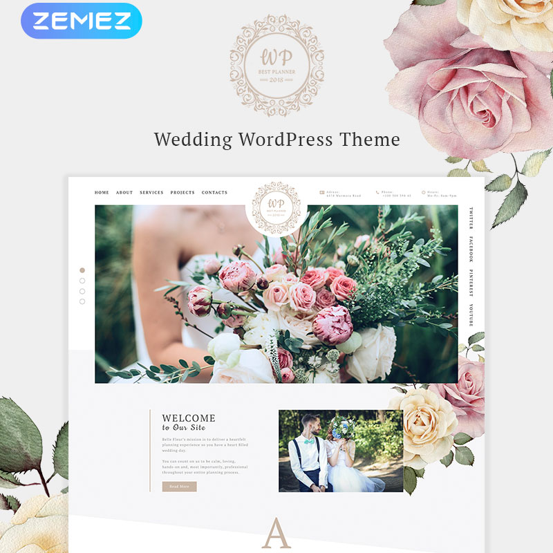 Elementor WordPress template wedding landing