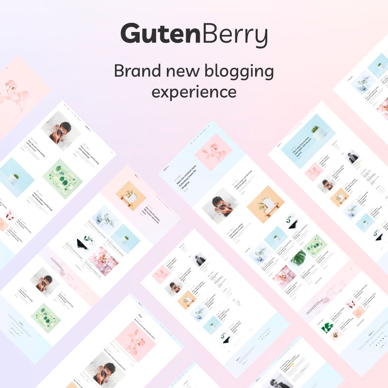 WordPress Template Gutenberry - Gutenberg-based Clean Blog