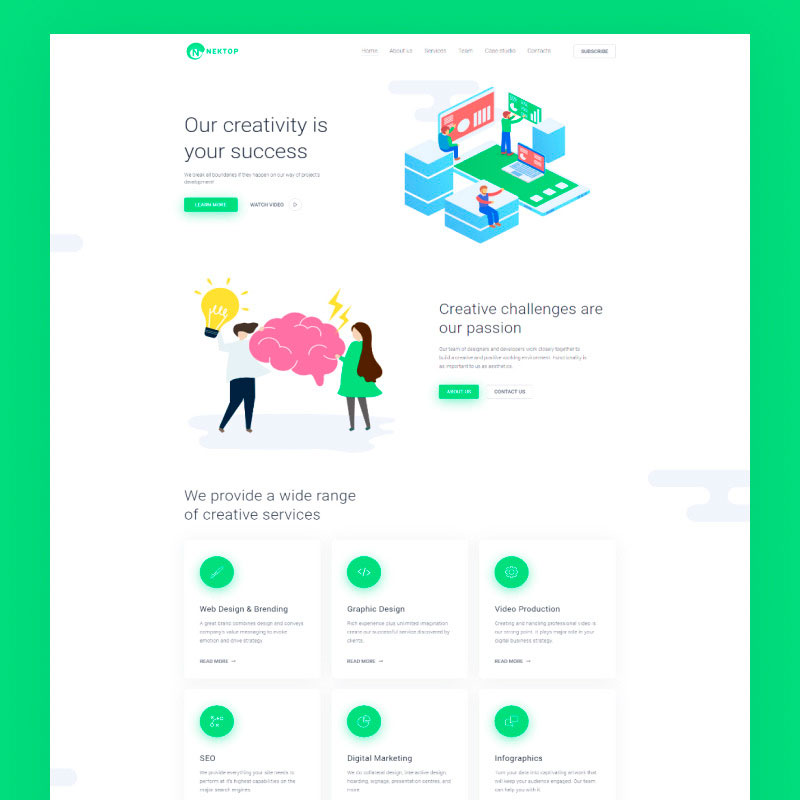 WordPress template Nektop - Design Studio Multipurpose Creative Elementor