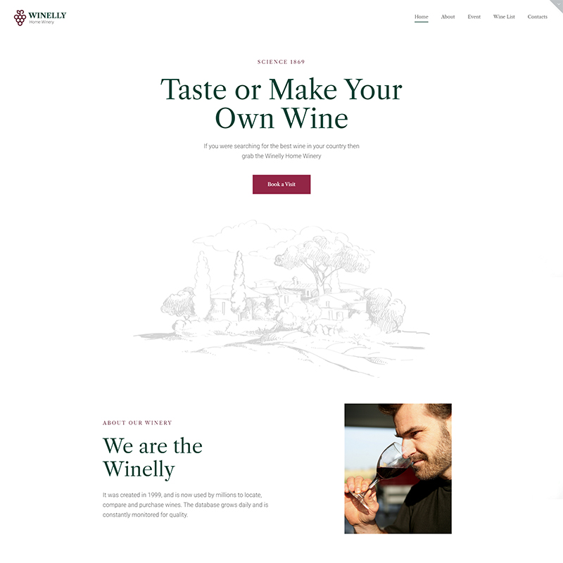 Winelly - Wine Tasting Theme To Make Your Tours Unforgettable